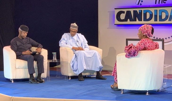 "President Buhari at the ""The Candidates"", A town hall event"